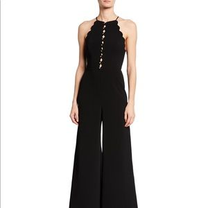 Zimmermann Scalloped Sleeveless Wide-Leg Jumpsuit